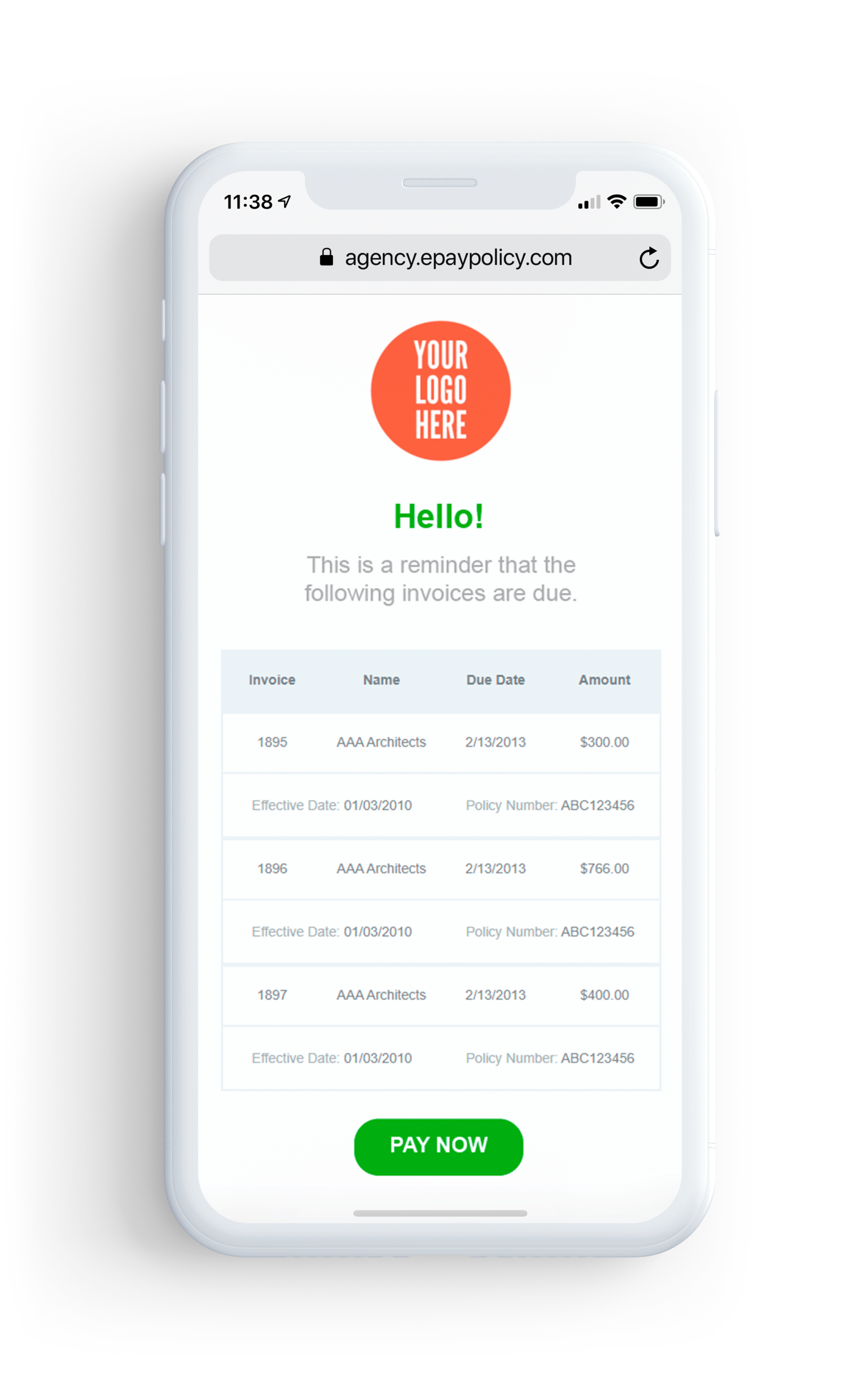Email Invoice Reminders
