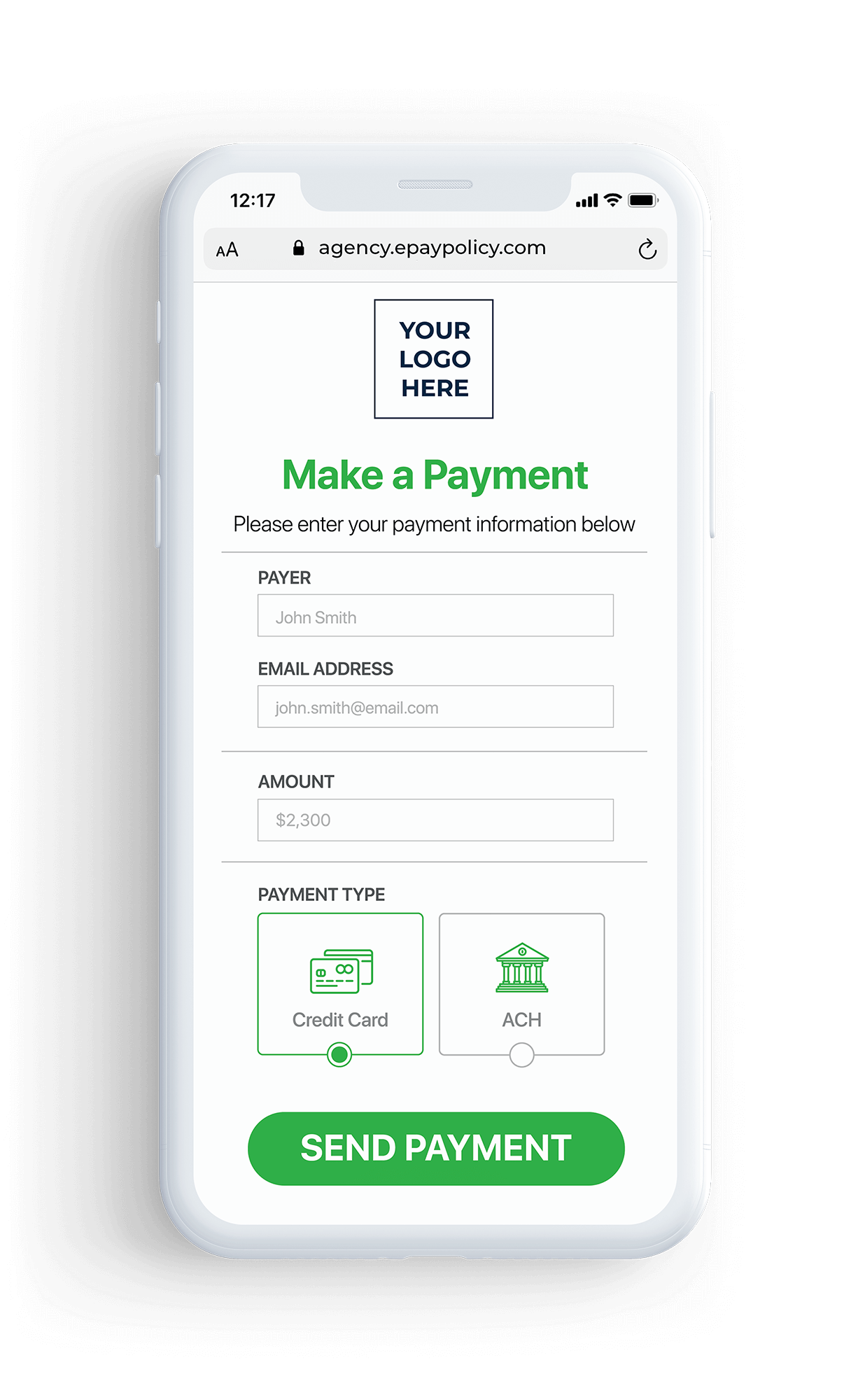 Basic Pay Page White Phone - agency2